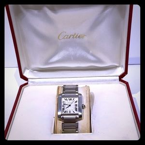 Cartier large automatic tank watch